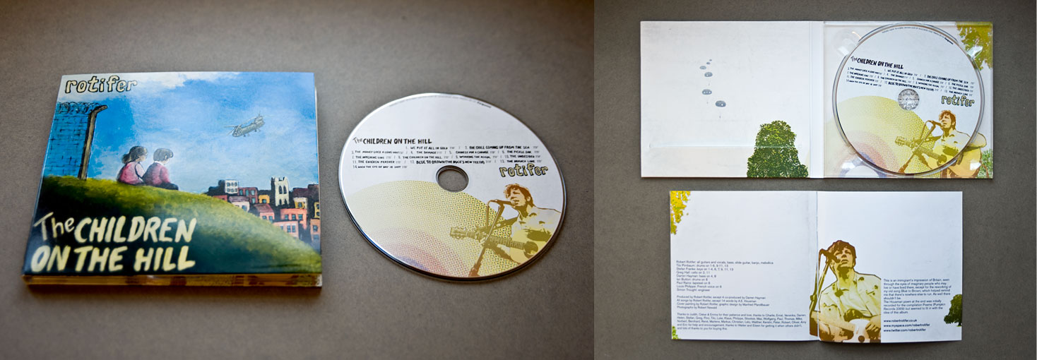cd Artwork / Illustrations for Robert Rotifer - the children on the hill